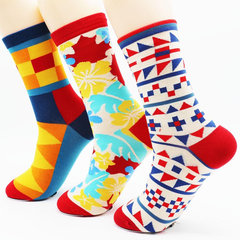 New mens winter high quality fun fashion socks Mens hip hop colored socks(3 Pairs / Lot)