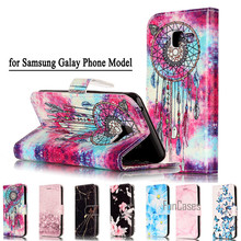 Fashion Marmer PU Kulit Ponsel Flip Case untuk Samsung Galaxy A3 A5 J3 J5 J7 2016 Funda Back Cover Mewah dompet Coque Case Cover(China)