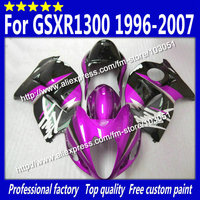 Hayabusa Body Kits For 1996 2007 SUZUKI GSXR1300 Fairing GSXR 1300 Fairings 99 07 Glossy Rose