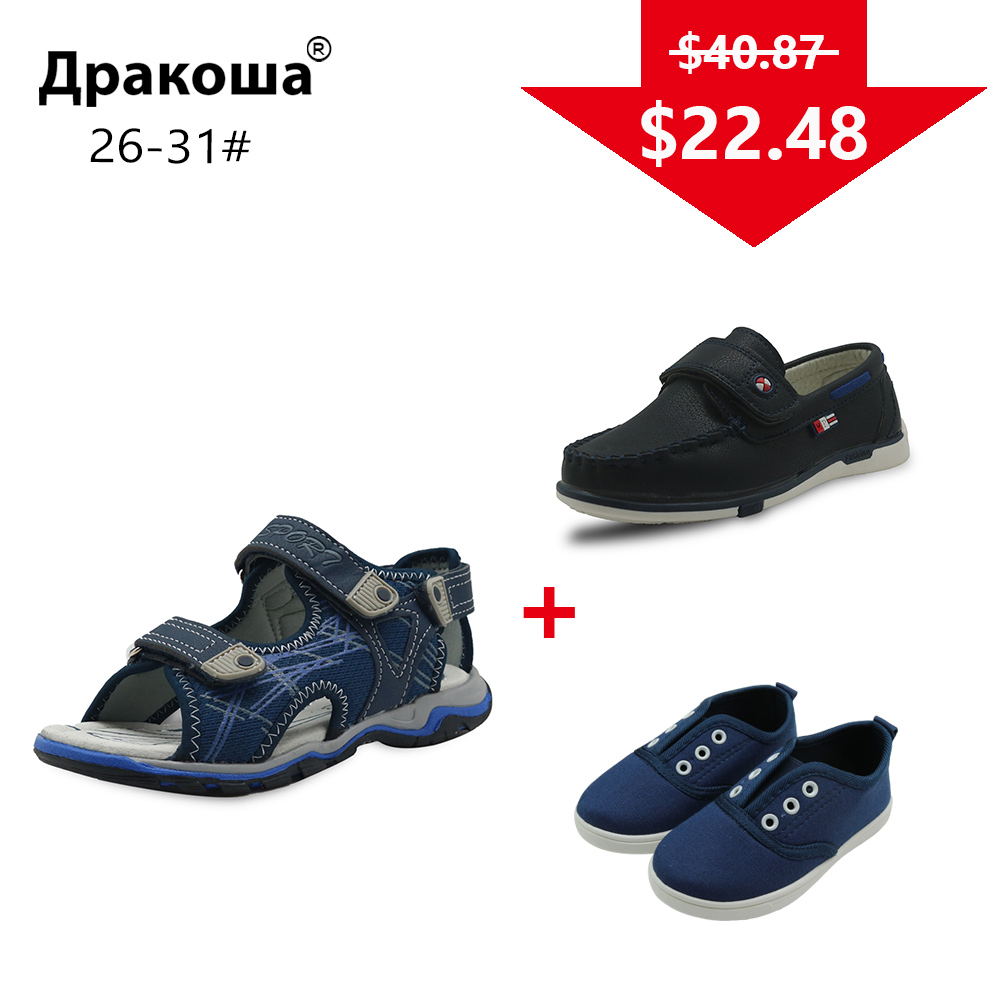 APAKOWA 3 Pairs Boys Summer Sandals Spring Autumn Boys Casual Shoes Sneakers Color Randomly Sent for One Package EU SIZE 26-31