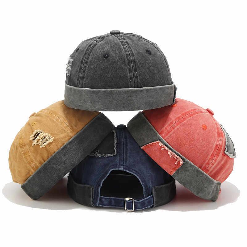 Carta de las mujeres de los hombres gorra sombrero Casual Docker marinero mecánico sin ala Color sólido Gorro de Invierno Mujer primavera tapa # YL5