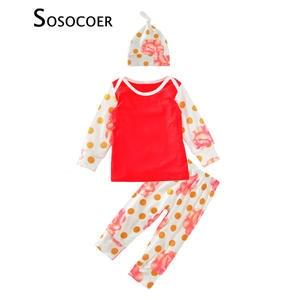 a6566eeee SOSOCOER Boys Pants Baby Outfits 3pcs Girls Clothing Set