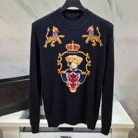 Новинка 2018 Высокое качество модные свитера для подиума летние человек Роскошные брендовые Мужская одежда A09209
