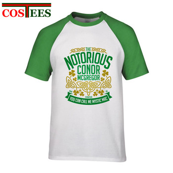 28479edd2 Notorious Conor McGregor camisetas hombres MMA marca ropa Cool man UFC  Crest camiseta hombres únicos irlandés Tops hipster camisetas homme