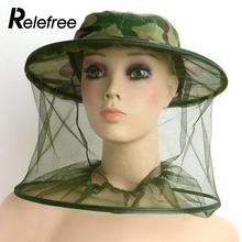 Relefree Bug Insect Midge Mosquito Fly Resistance Net Mesh Face Fishing Tools Outdoor Camping Hiking Hat Protector Cap Gear