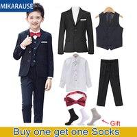 Новый детский черный блейзер, костюмы для мальчиков на свадьбу, комплекты одежды, блейзеры для мальчиков, детская одежда, вечерние смокинги ...