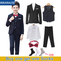 New Kids Black Blazer Boys Suits For Wedding clothes Sets Boy Blazers Children Clothing Flower Boy Formal Tuxedos School Costume