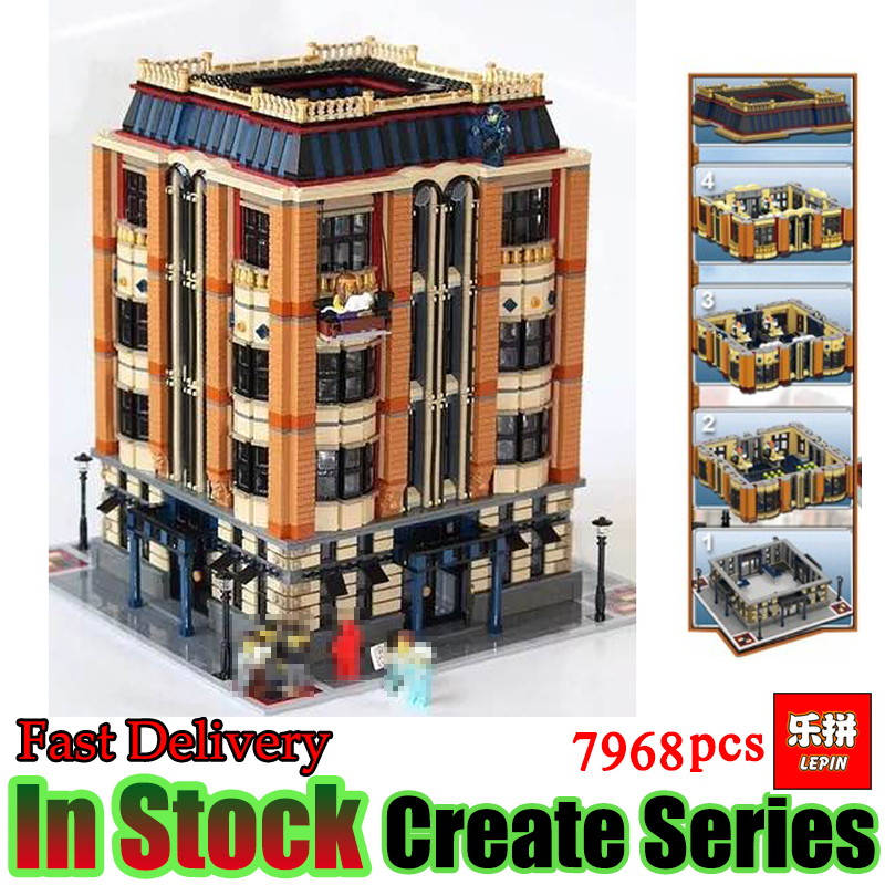 Lepin 15016 7968pcs MOC Creative Creators Series The Apple University Building Blocks Bricks Set Model Toys for children wange mechanical application of the crown gear model building blocks for children the pulley scientific learning education toys