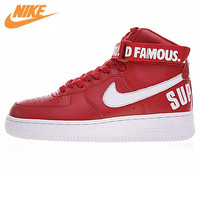 Nike Air Force 1 High Supreme White Air Force One Men 's Skateboarding Shoes Sneakers 698696 610
