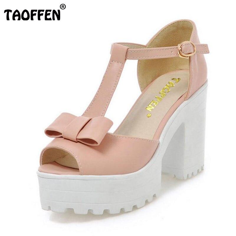 TAOFFEN women stiletto square high heel ankle strap sandals summer sexy ladies heeled footwear heels shoes size 34-43 P17742 diesel nuki dz5474