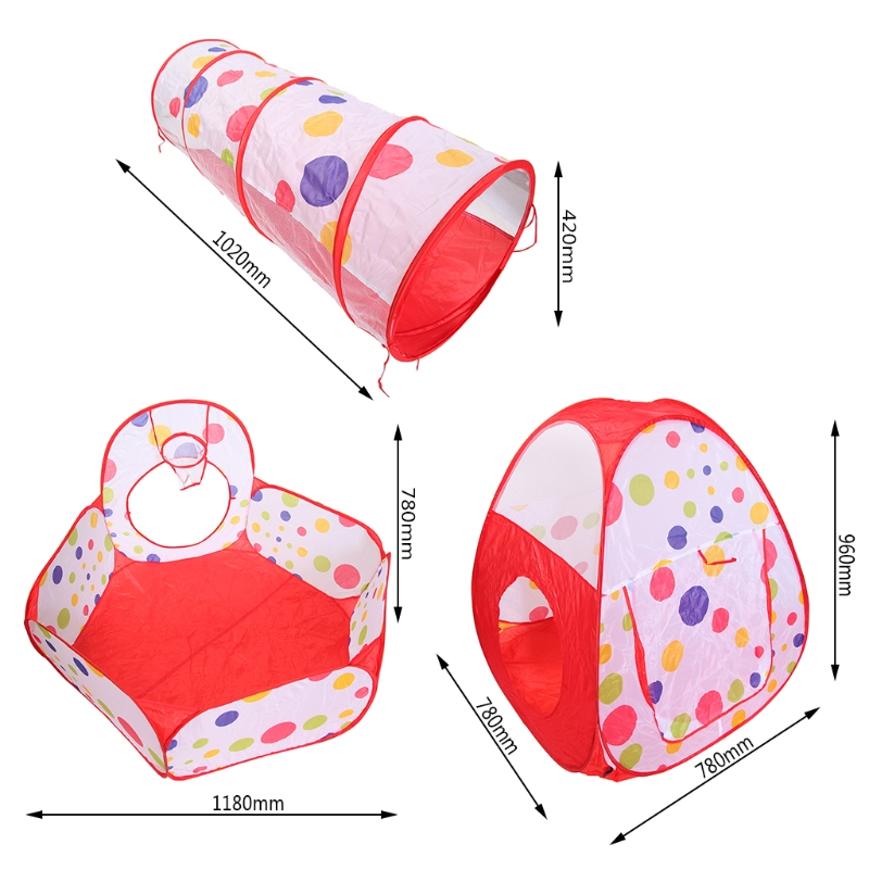 3-in-1 Childrens Pool - Cylindrical Tent Childrens Toy Tent Portable Outdoor Game Tent Children/Baby Game Toy House No Ball
