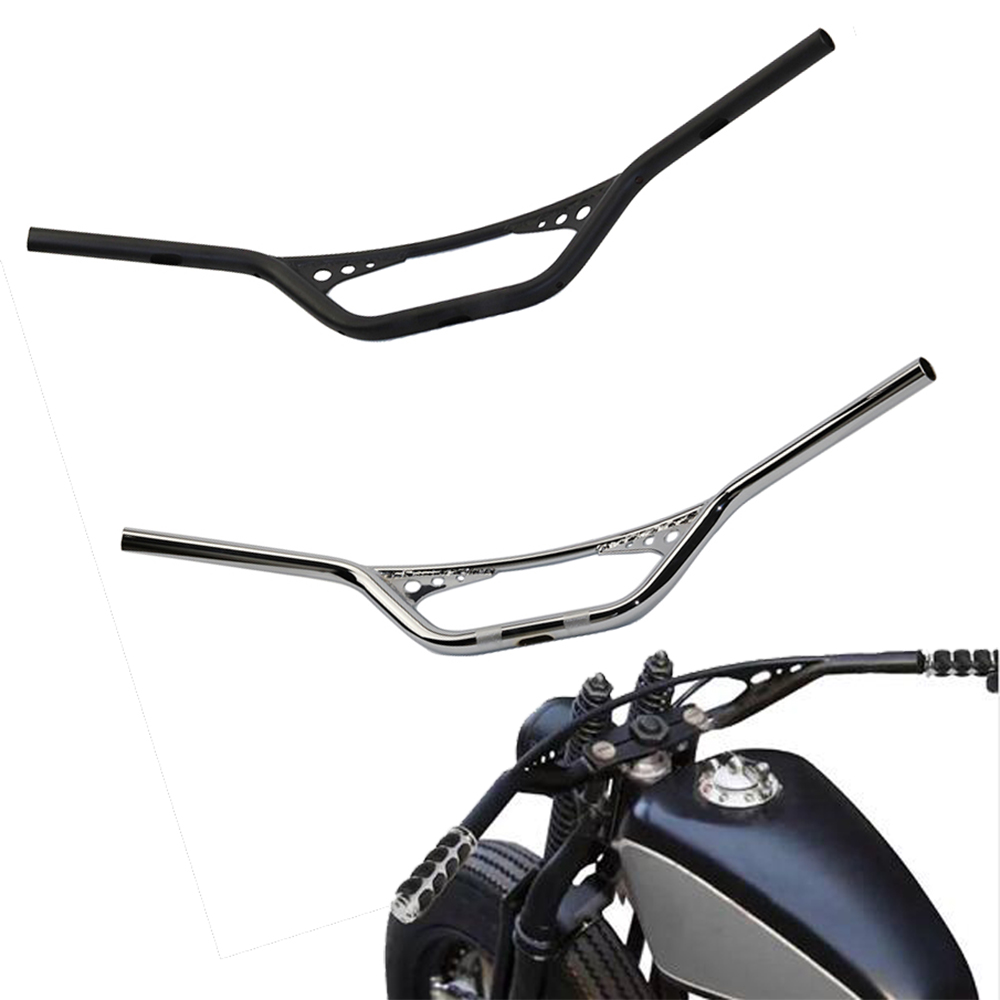 Handlebar 1 25mm Retro Motorcycle 1 inch Handlebars Handle Bar For Harley Dyna Chopper Bobber Sportster 48 883 1200 XL 25mm scrambler handlebar retro style drag cross bar drilled hole for harley sportster xl iron 883 1200 dyna wide glide cruiser
