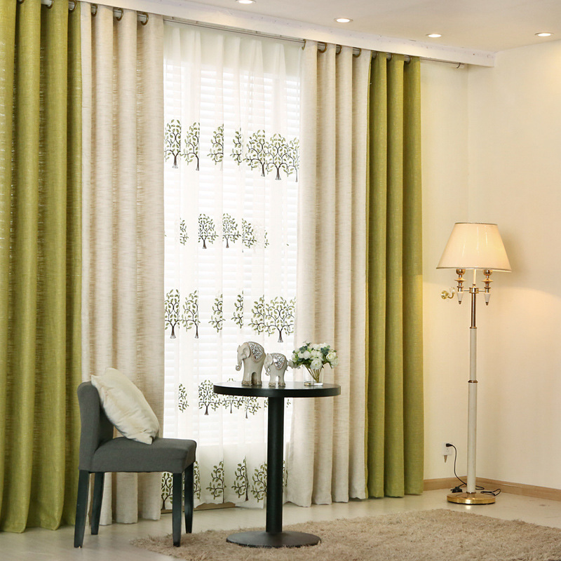 {byetee} Modern Curtains for Living Room Beige Green ...
