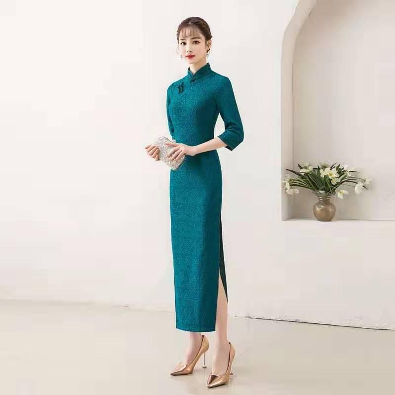 noir Mariée Traditionnel Robe blanc Conduites Charme grade De Sport Cheongsam vert Vêtements Broder Verstand Carburant Rouge Haute Chinois xq0fTgw
