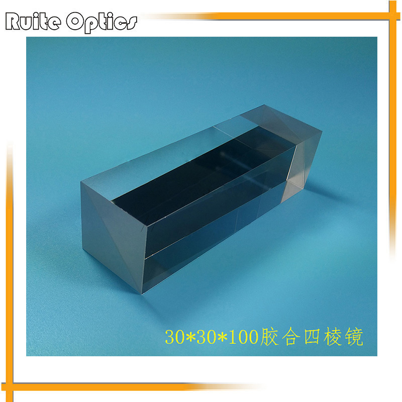 30x30x100mm K9 Optical Glass Four Sides Doublet Prism For Optical Experiment Optics Instruments Four Ridge Cemented Cubic Prism  цены