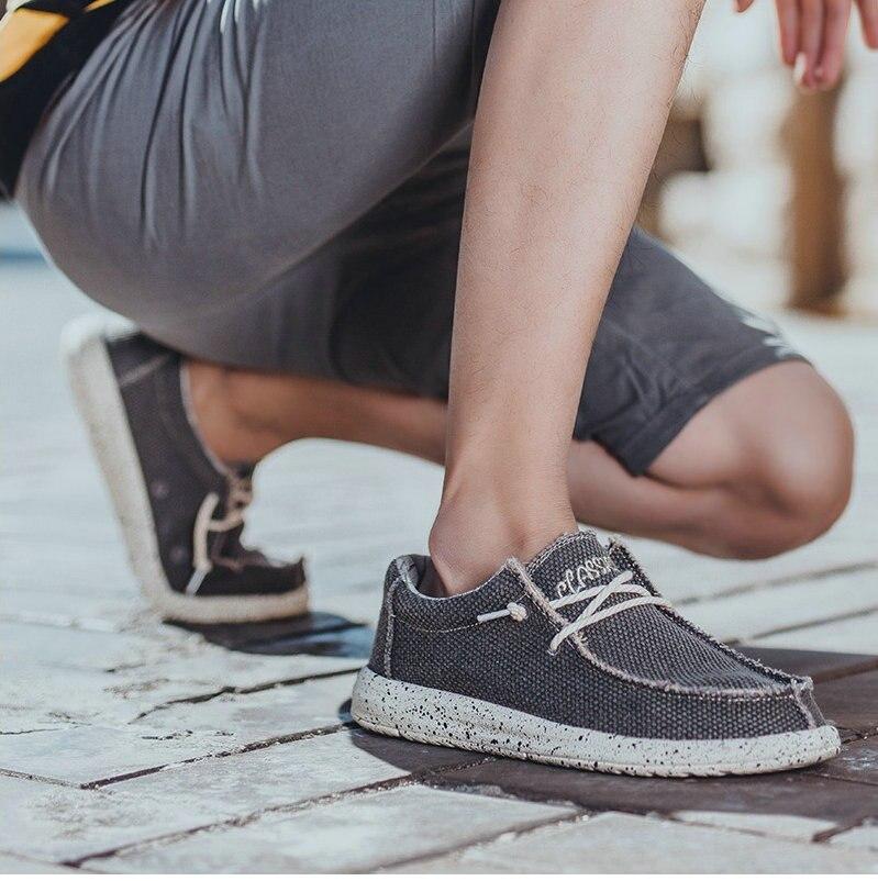 2019 été toile chaussures pour hommes décontracté chaussures à semelle souple confortable sauvage chaussures pour hommes grande taille mocassins AQ772-784 C1