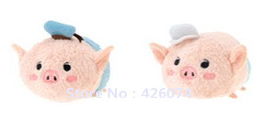 Mini Tsum Three Little Pigs And Wolf Plush Toys Kids Stuffed Smartphone Cleaner Phone Pendant