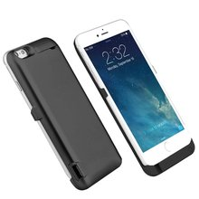 US/RU/FR/ES/DE/AU External Power bank Pack backup battery Charger Case For iphone 7 / 6 6S 8 Plus cases cover Black