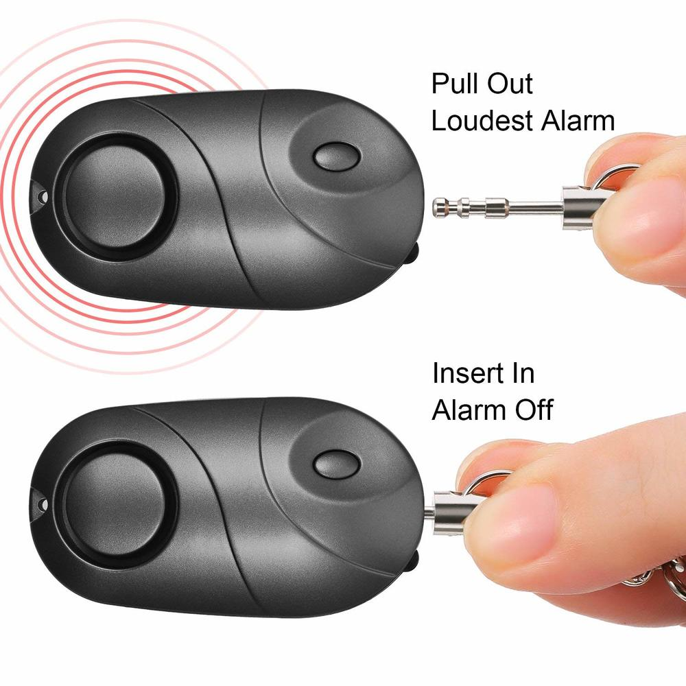10 PCS Personal Alarm Safe Sound Emergency Self-Defense Security Alarm Keychain Flashlight For Women Girls Kids Elderly Explorer