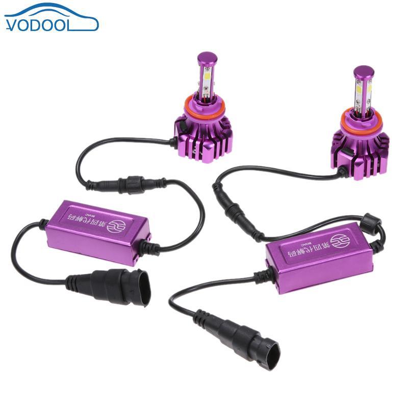 1 Pair Universal 6500K B3 9005 H11 H3 LED COB Car Headlight Auto Head Lamp Bulbs
