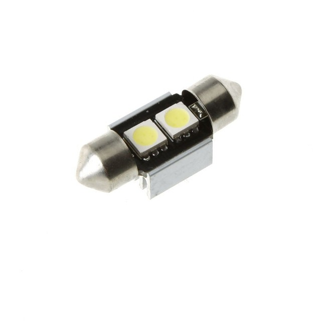 Free Shipping !10X31mm 2 SMD 5050 LED White CANBUS Car Interior Festoon Dome Light Lamp Bulb
