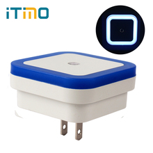 iTimo Hot Sale Luminaria US Plug Novelty Nightlights LED Night Light Lamp Light Sensor Controlled Baby Home Bedroom Decoration(China)