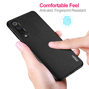 Image 5 - for Xiaomi 9 Lite Case Mi9 Lite Cover for Xiomi 9lite Back Housing Coque Mi 9 TPU PU Leather Soft Silicone Full MOFi Original