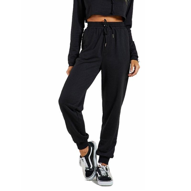 2019 Autumn Fashion Solid Sweat Pants Women Joggers Black Casual High Waist Harem Pants Loose Trousers Women Sweatpants Harajuku