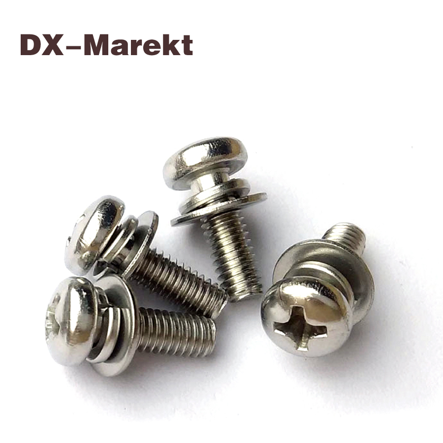 m1.6 m2 m2.5 m3 m4 m5 m6 cross recess pan head screw double washers assembly ,304 stainless steel micro screw fasteners 50pcs m2 m2 5 m3 m4 iso7045 din7985 gb818 304 stainless steel cross recessed pan head screws phillips screws hw002