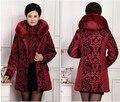 Горячая! 2016 новая мода зимняя куртка женская одежда женщины большой меховой воротник толстые парки с капюшоном вниз хлопка пальто плюс размер