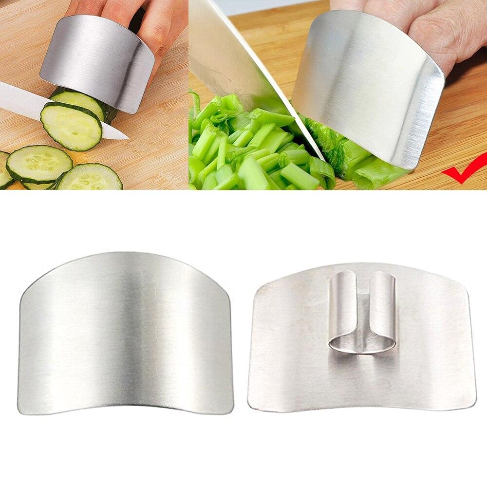 1 Uds protección para dedo corte a mano Protector de la mano cuchillo corte dedo protección herramienta de acero inoxidable herramienta de cocina Gadgets
