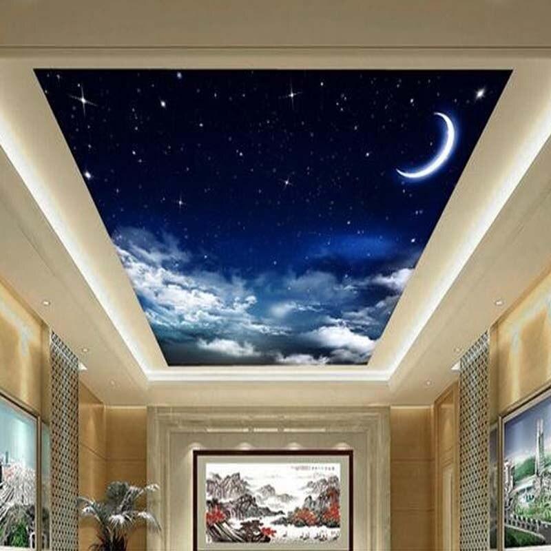 Custom 3d photo wallpaper 3d romantic sky ceiling mural for Ceiling mural in smokers lounge