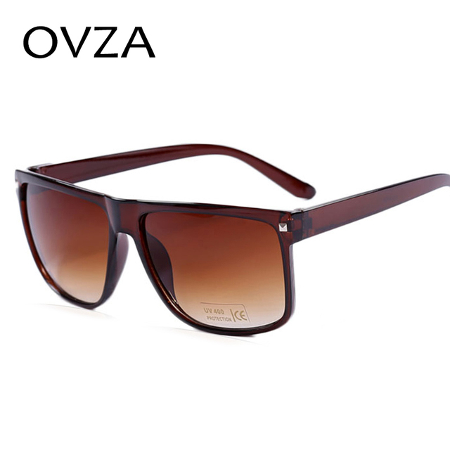 834528e7d37 Aliexpress.com   Buy OVZA Classic Brown and Black Sunglasses Rectangle  Unisex Sun Glasses for Women Fashion Men Glasses Oculos De Sol Feminino A1  from ...
