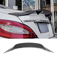 W218 CLS Carbon Fiber Rear Trunk Lip Spoiler Wing for Mercedes Benz W218 2012 2015 Renntech Style