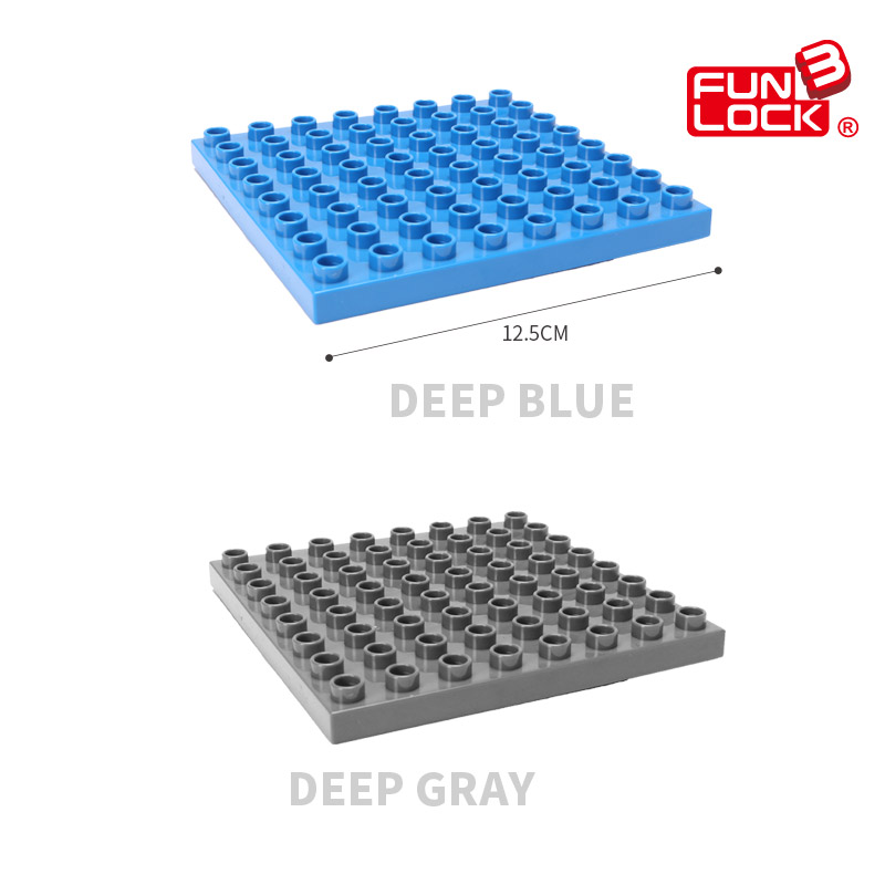 Funlock Duplo Building Blocks Brick Bottom Plate Baseboard - Mainan pembinaan - Foto 6