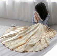 Microfine Burrito Blanket Tortilla Summer Bed Throw Fleece