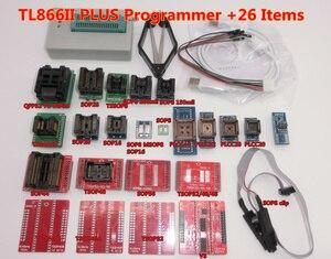 Image 4 - 100% oryginalny TL866II PLUS programator + 24 adaptery + zacisk ic szybki AVR MCU Flash EPROM programator wymień TL866A/CS