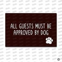 Entrance Floor Mat Non slip Doormat All Guests Must Be Approved By Dog Door Mat Outdoor Indoor Rubber Mat Non woven Fabric Top