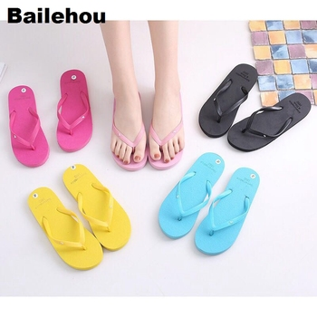 Bailehou Women Slippers Beach Flip Flops Sandals Slip On Slides Indoor Home Slipper Women Flat Casual Shoes Female Drop Shipping 1