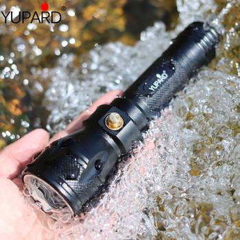 YUPARD diving 80m diver Underwater bright Torch XM-L2 T6 LED Lamp Waterproof Flashlight +18650 rechargeable battery +charger