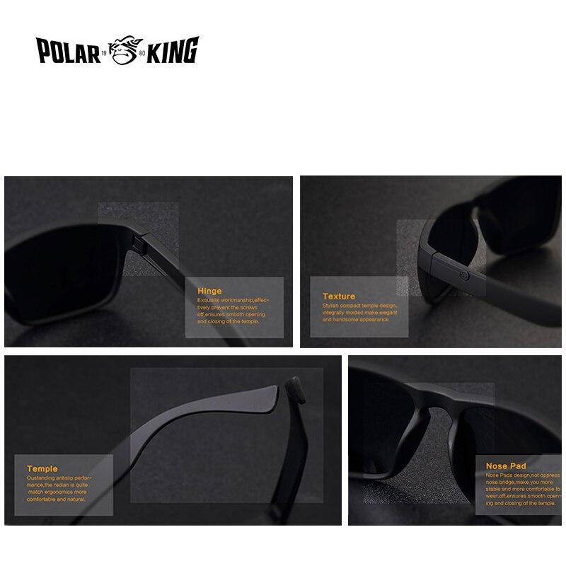 cde696f655 POLARKING Brand Polarized Sunglasses For Men Plastic Oculos de sol Men s  Fashion Square Driving Eyewear Travel Sun Glasses