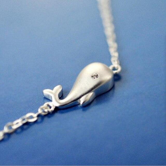 Women's 925 Sterling Silver Whale Bracelet 5