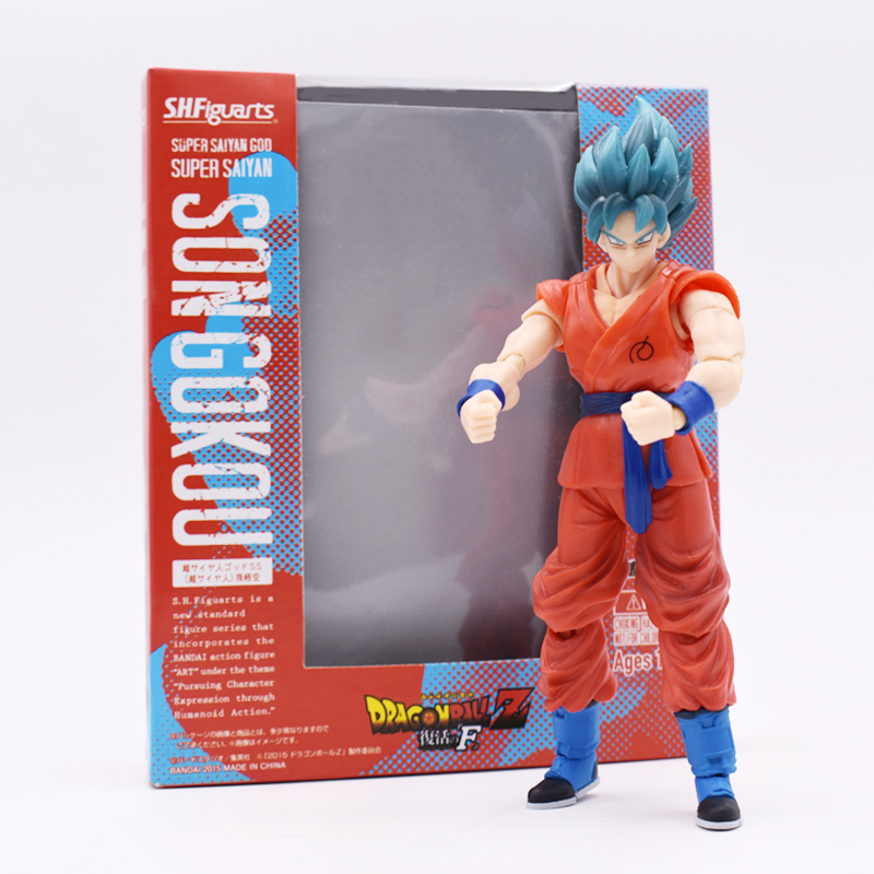 7 17.5cm Anime Dragon Ball Z SHF Figuarts Super Saiyan God Goku Joint Movable PVC Action Figure Collection Model Toy for Kids anime dragon ball figuarts zero super saiyan 3 gotenks pvc action figure collectible model toy 16cm kt1904