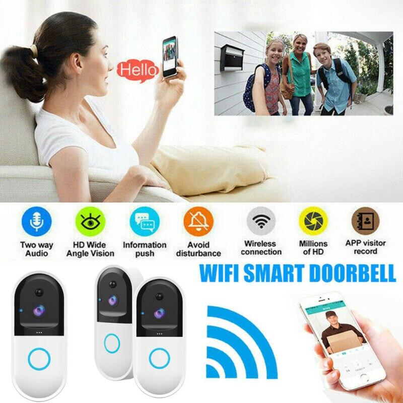 Wireless WiFi DoorBell Smart Video Phone Door Visual Intercom Secure Camera