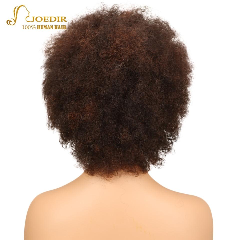 Joedir Short Human Hair Wigs Afro Kinky Curly Wig Sassy Curl Human Hair Wig Color F2/33 Short Wigs For Black Women Free Shipping