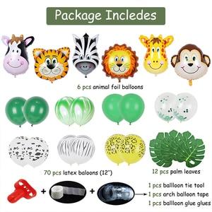 Image 3 - Jungle Zoo Safari Party Supplies Decoration Kit Animal Foil Balloons Latex Forest Wild Animal Birthday Kids Baby Shower Decor