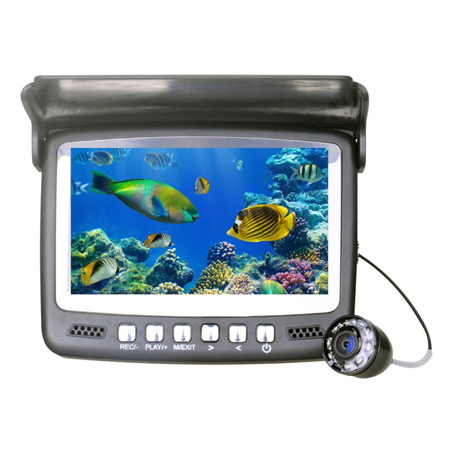 Visible Video Camera Fish Finder Underwater Ice Fishfinder Fishing Recording Camera IR Night Vision DVR with15m Cable TF Card