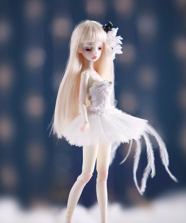 AQK (AQK) 1/8 BJD/points poupée fleur fée humaine yeux libres