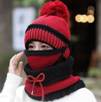 2018-HOT-Winter-Beanie-Hat-Scarf-and-Mask-Set-3-Pieces-Thick-Warm-Knit-Cap(4)