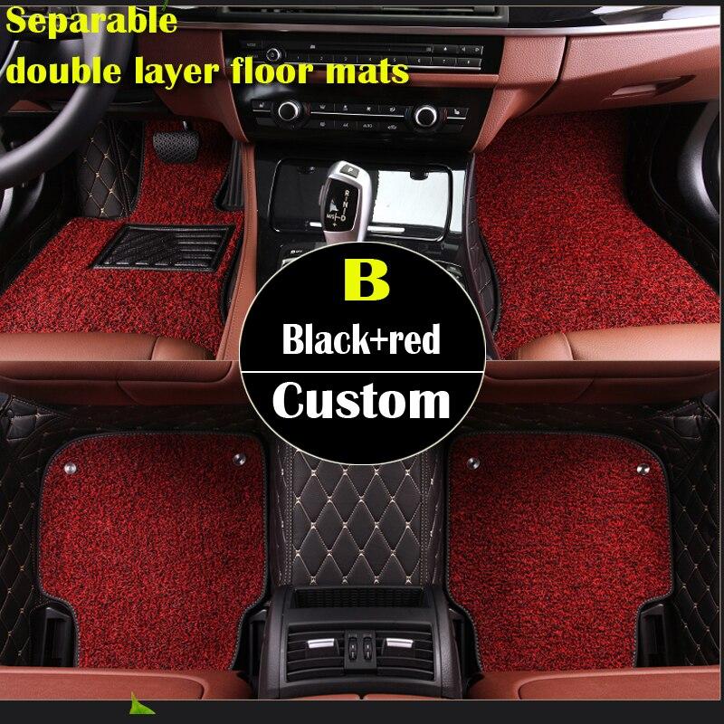 Séparable double couche personnalisé tapis de sol de voiture pour BMW F10 F11 F15 F16 F20 F25 F30 F34 E60 E70 E90 1 3 4 5 7 Série GT X1 X3 X4 X5